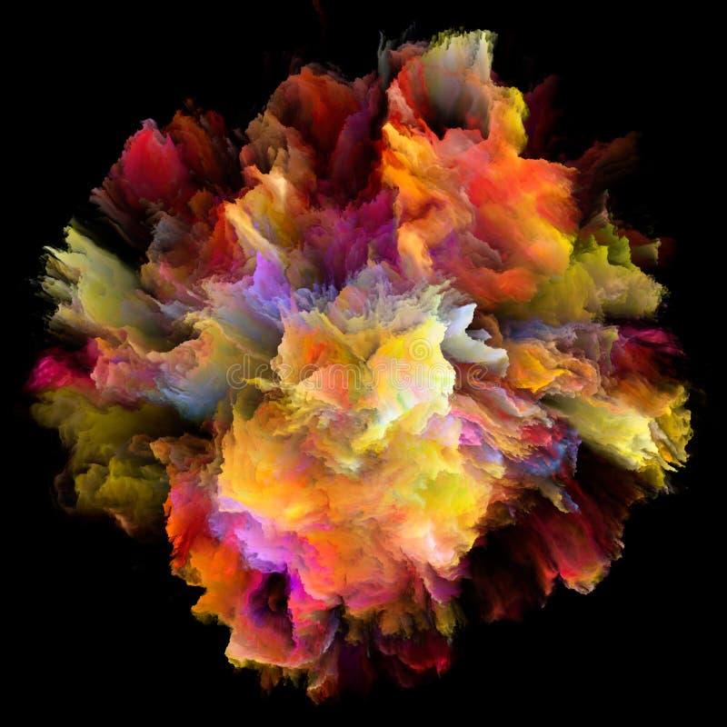 颜色飞溅爆炸的瓣 皇族释放例证