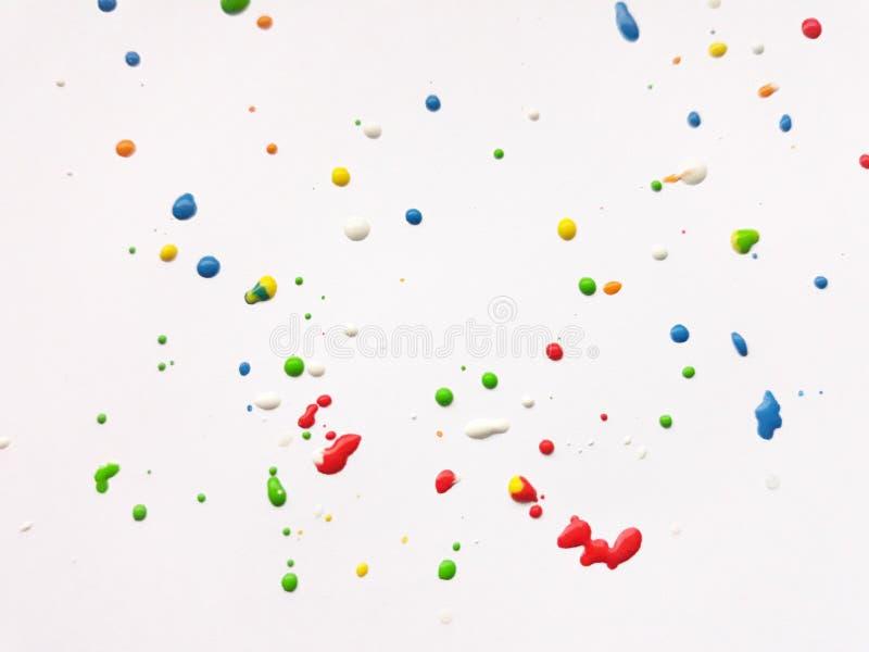 颜色飞溅,轻的背景 免版税库存照片