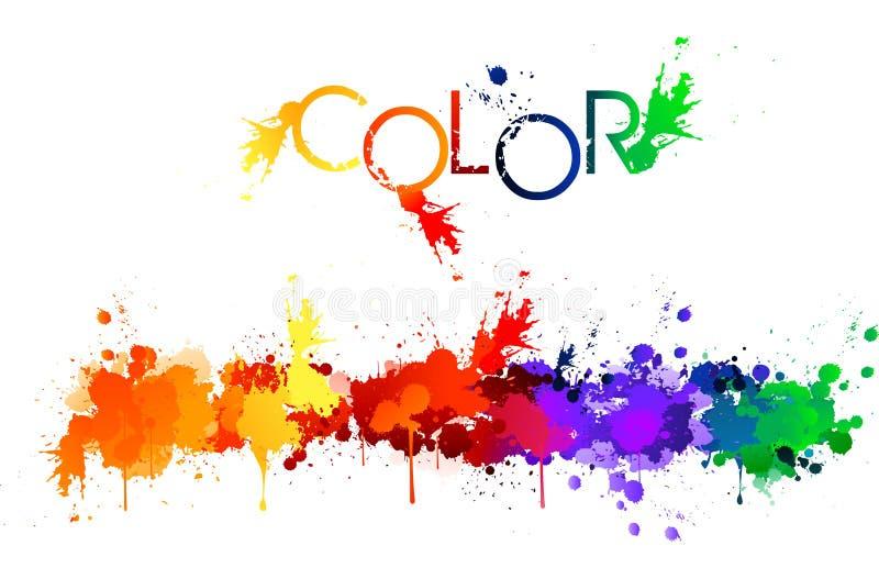 颜色飞溅 向量例证