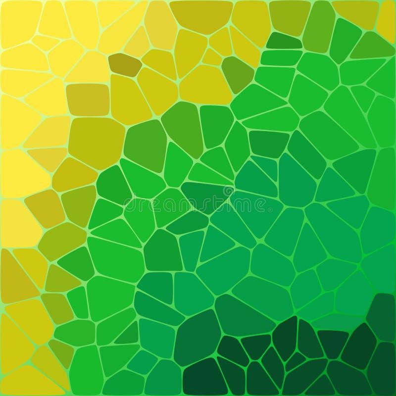 颜色马赛克样式 多彩多姿的小卵石 多角形样式- Vektorgrafik 向量例证