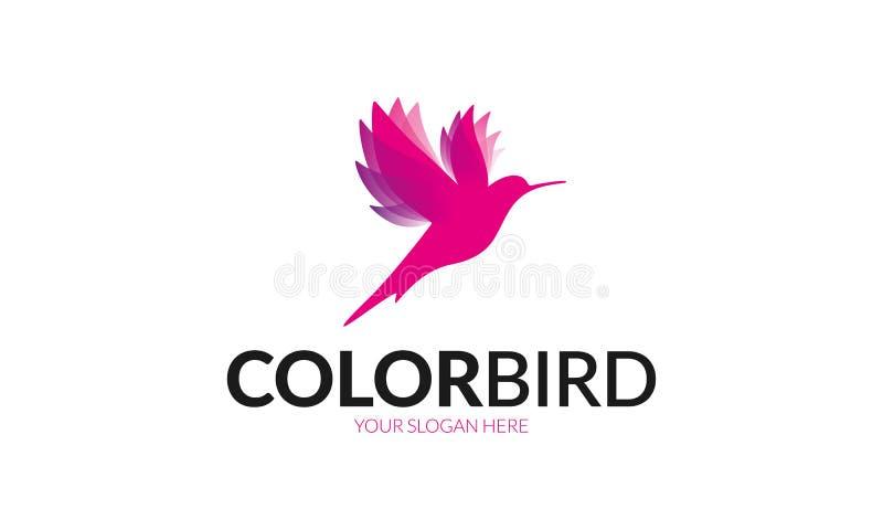 颜色鸟商标 皇族释放例证