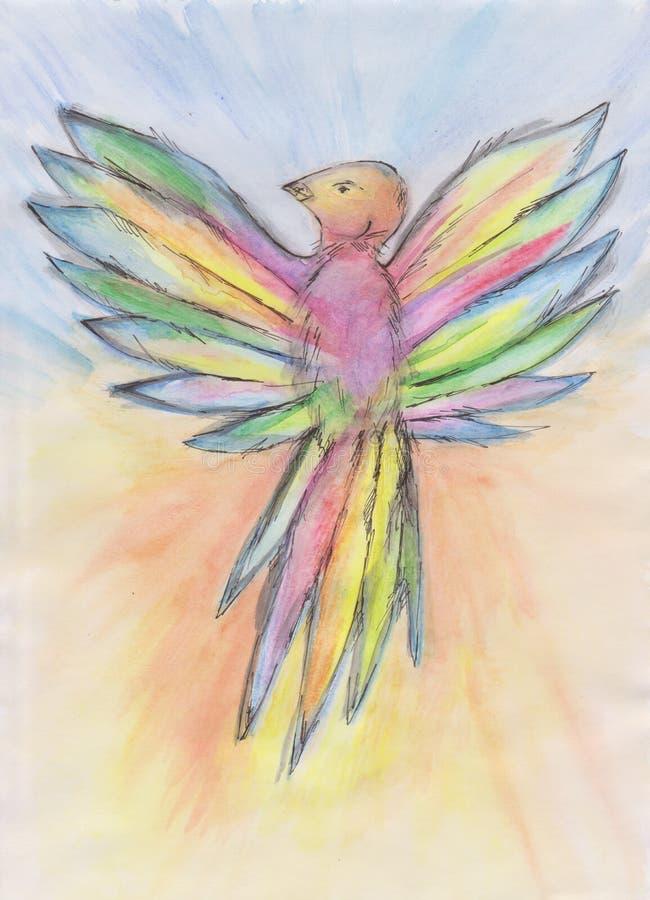 颜色鸟 免版税库存照片