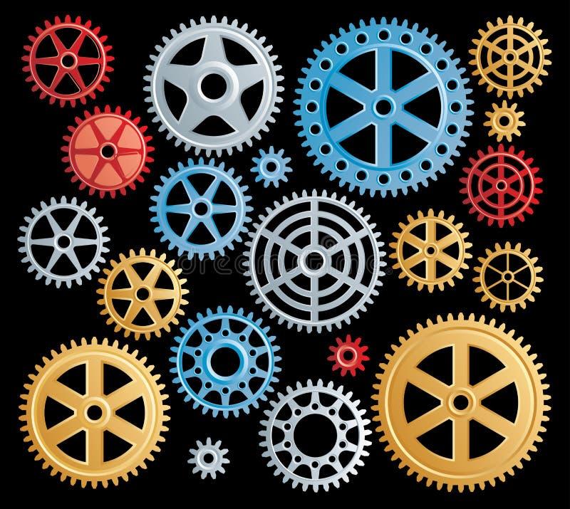 颜色齿轮 向量例证