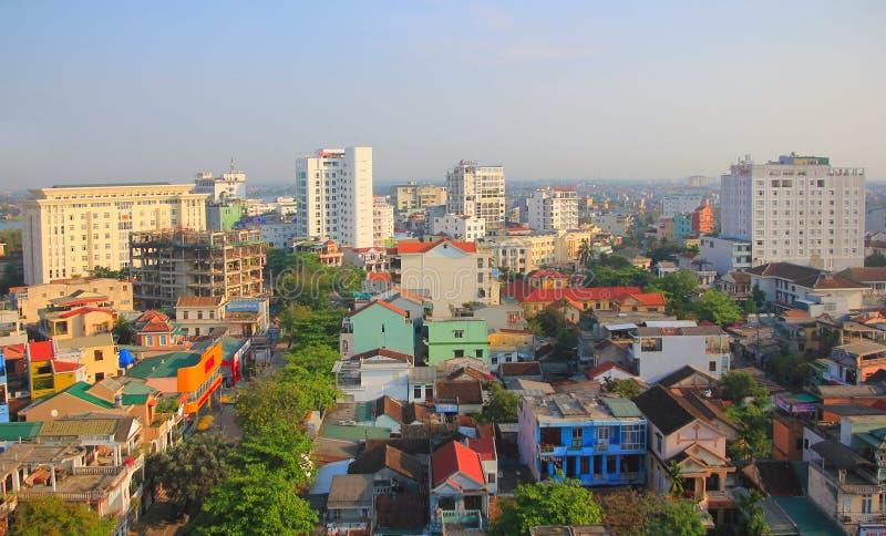 颜色, VIETNAM-MARCH 2013年-在颜色, Vitenam的早晨视图 它是非常美丽和平安的 库存图片