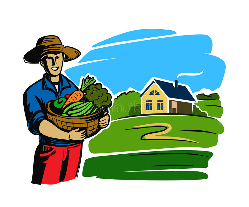 农夫卡通画_download 颜色黑人农夫 向量例证.