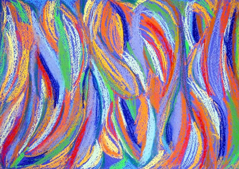 颜色绘画 在水彩画纸的软绵绵柔和的淡色彩 库存例证