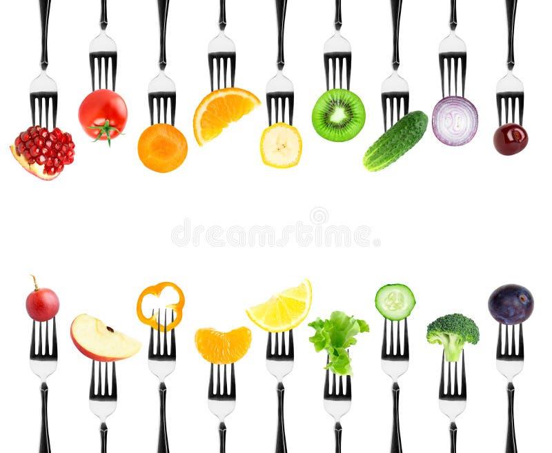 颜色水果和蔬菜 向量例证