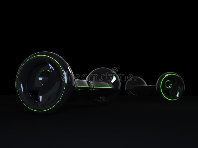 黑颜色hoverboard 免版税图库摄影