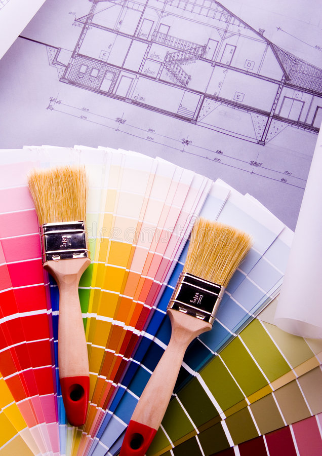 颜色s范例 库存图片