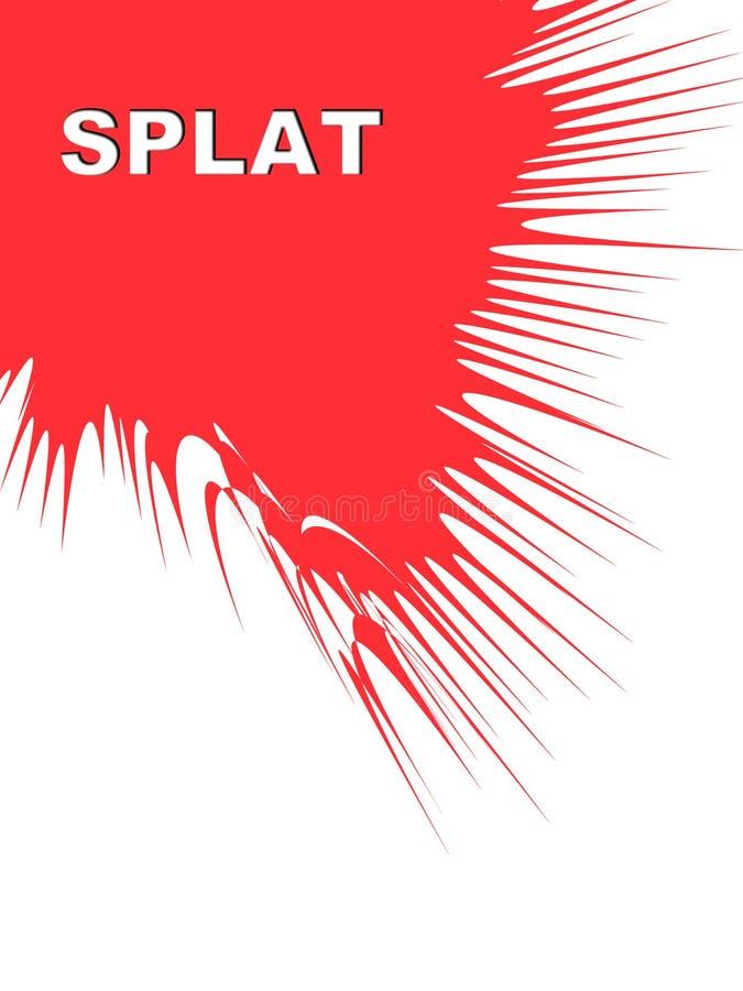 颜色splat 向量例证