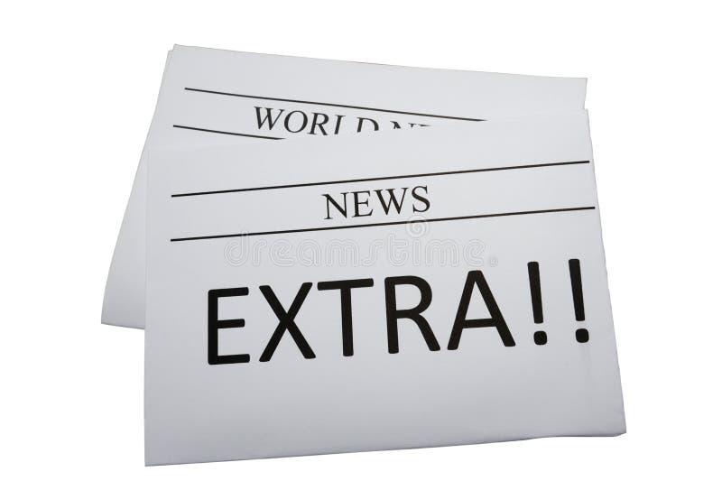 额外的新闻报纸 免版税库存照片