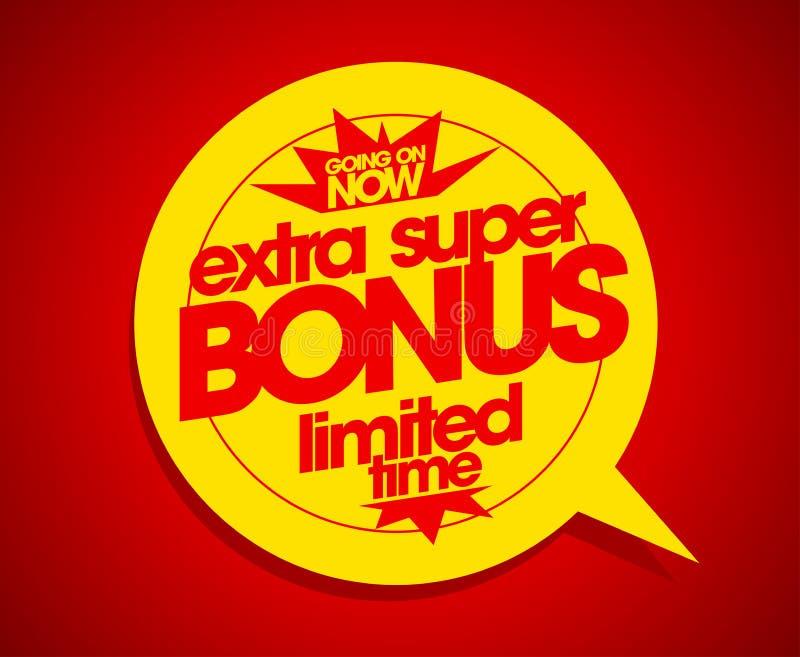 额外超级奖金时间有限 库存例证