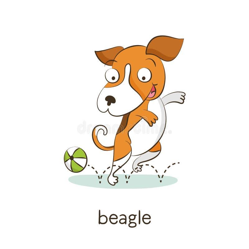额嘴 在白色的狗字符 向量例证