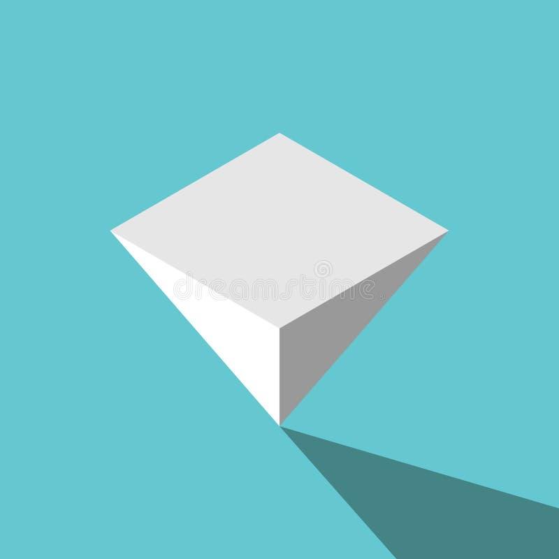 颠倒等量金字塔 向量例证