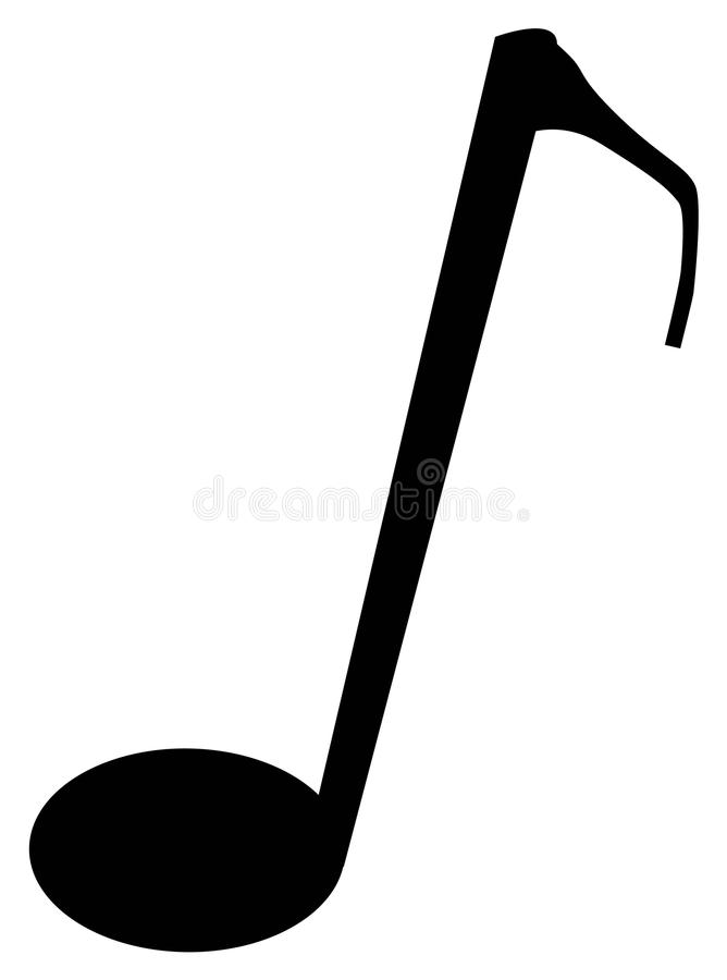 颤音音符剪影 向量例证