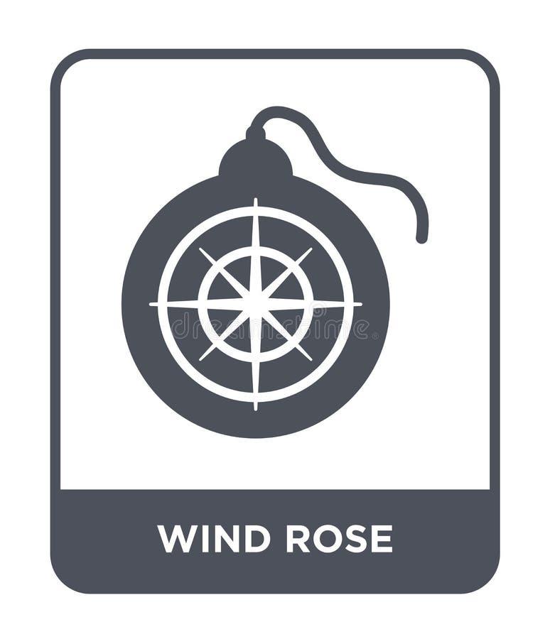 风上升了在时髦设计样式的象 在白色背景隔绝的风玫瑰色象 风玫瑰色传染媒介象简单和现代舱内甲板 库存例证