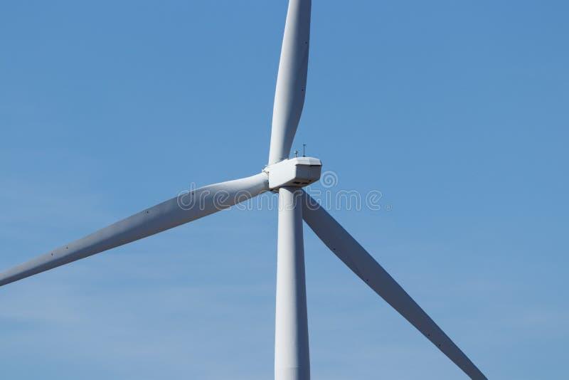 风力场在中央印第安纳 风和太阳绿色能量地区变得非常普遍在农业社II 免版税库存图片