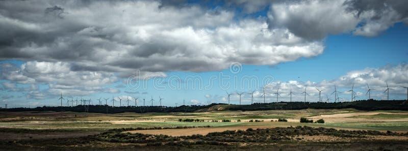 风力场在西班牙 免版税图库摄影