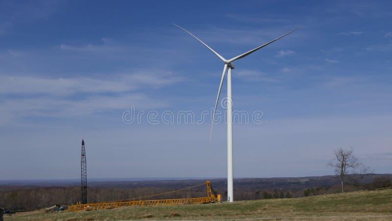 风力场建造场所 库存照片
