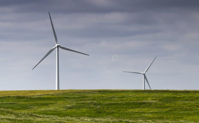 风力场风景 库存图片