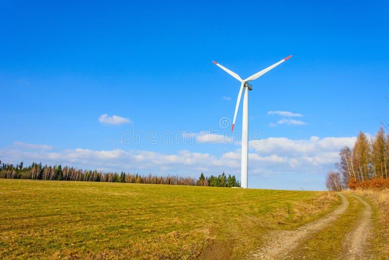 风力植物在捷克作为来源的绿色ene 图库摄影