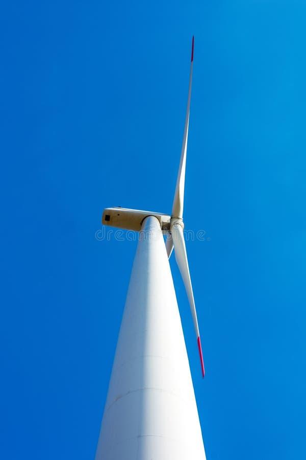 风力植物在捷克作为来源的绿色ene 库存照片