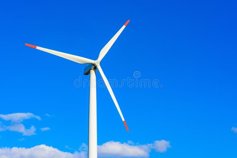 风力植物在捷克作为来源的绿色ene 免版税库存图片