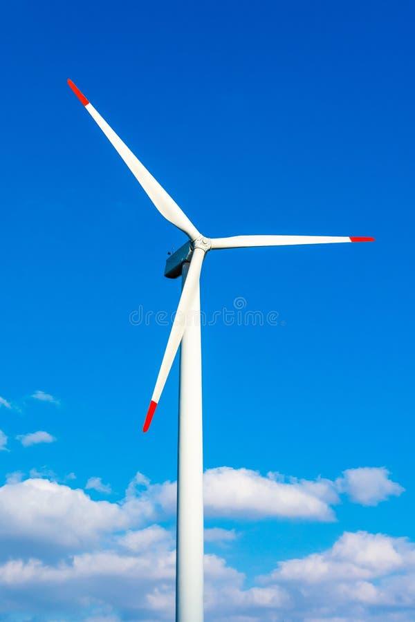 风力植物在捷克作为绿色能量的来源 库存图片