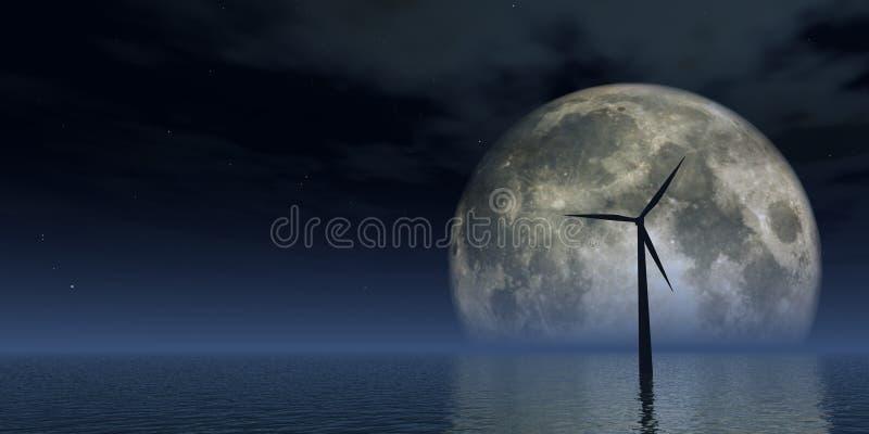 风力 向量例证