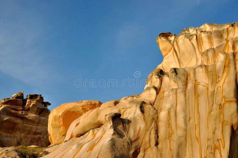 风化花岗岩石头样式 免版税库存图片