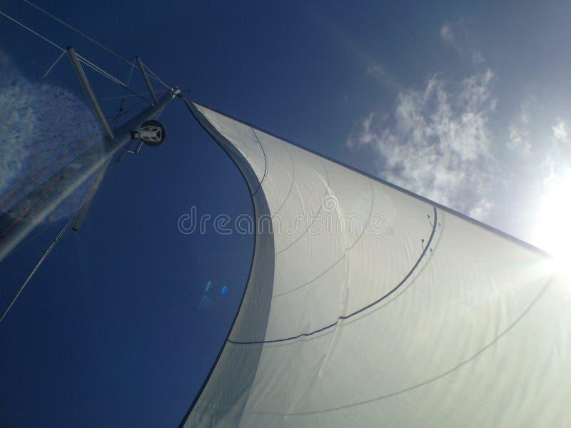 风吹的风帆 免版税图库摄影