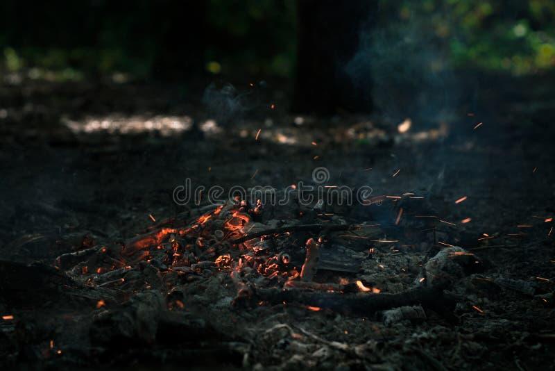 风在煤炭吹 免版税图库摄影