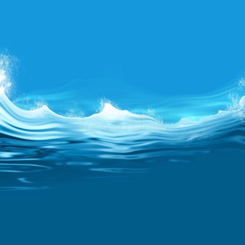 风大浪急的海面背景例证 皇族释放例证