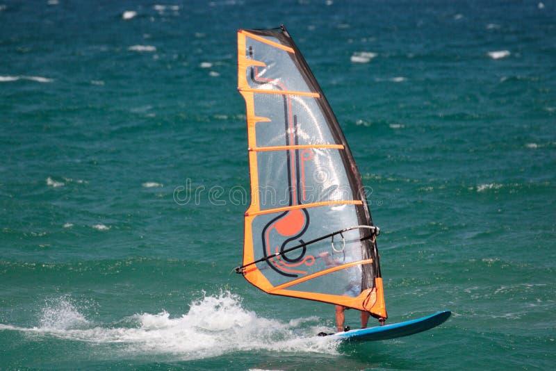 风帆冲浪的西班牙 图库摄影