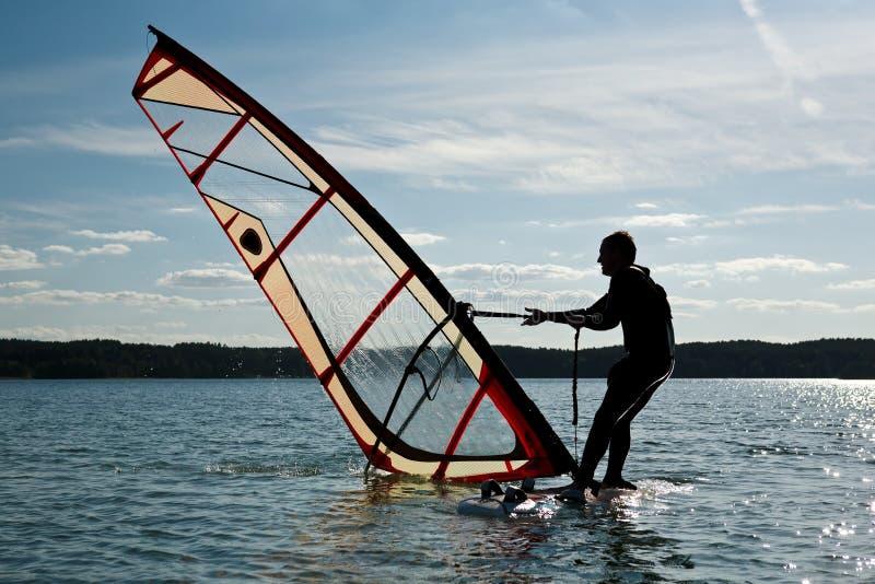 风帆冲浪的课程 免版税库存图片