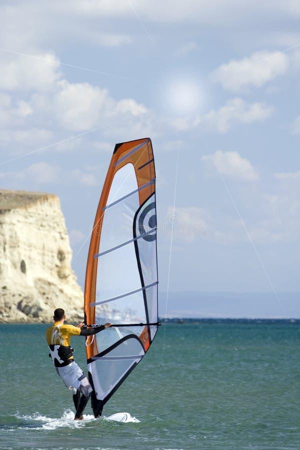 风帆冲浪的风 库存图片