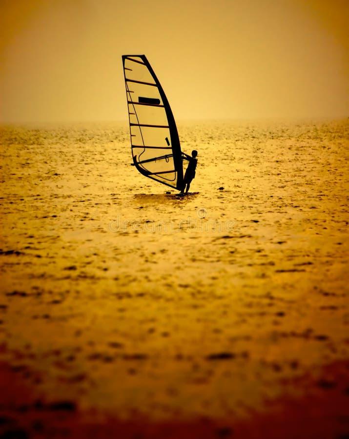 风帆冲浪 免版税图库摄影