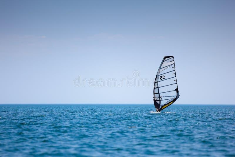 风帆冲浪 库存图片