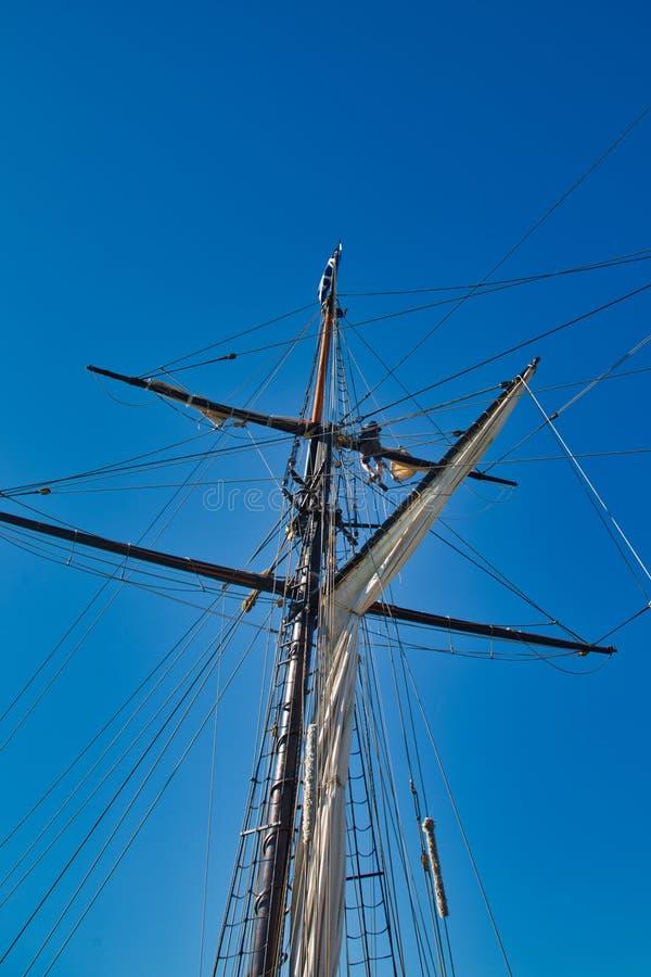 风帆和帆柱 免版税库存图片