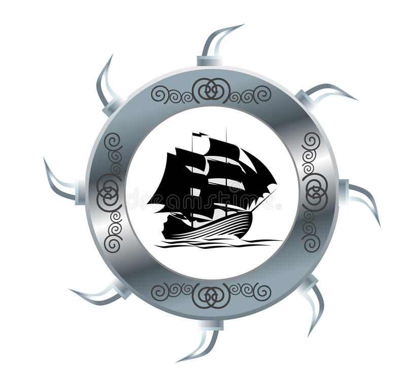 风帆船 向量例证