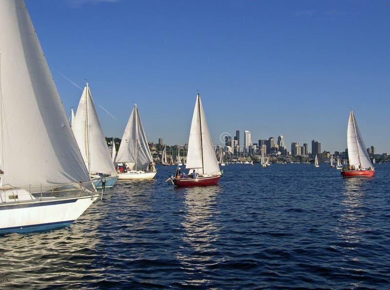 风帆西雅图 免版税库存图片