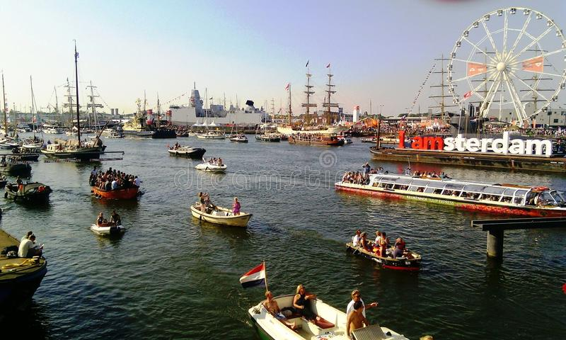 风帆阿姆斯特丹2015年节日 图库摄影