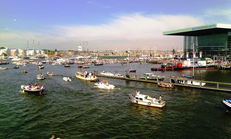 风帆阿姆斯特丹2015年节日 免版税库存图片