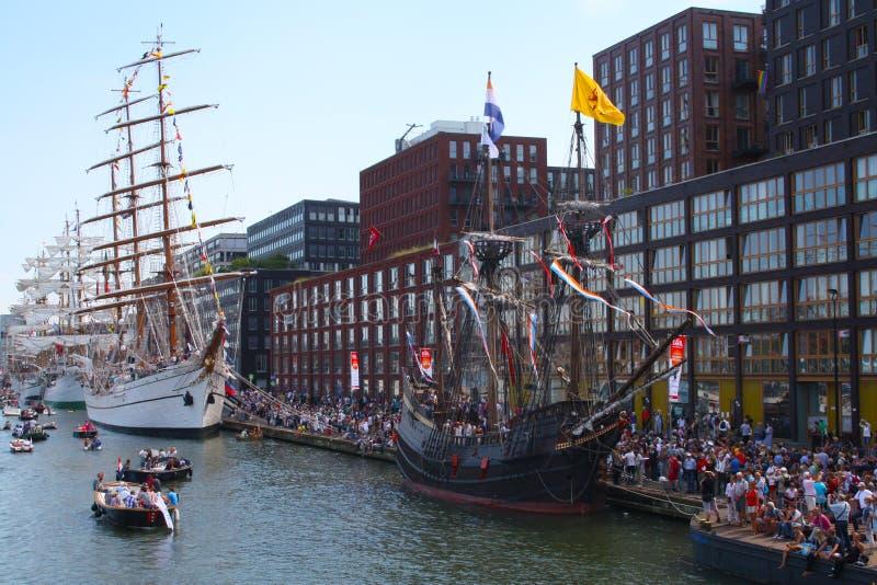 风帆阿姆斯特丹2015年 库存照片