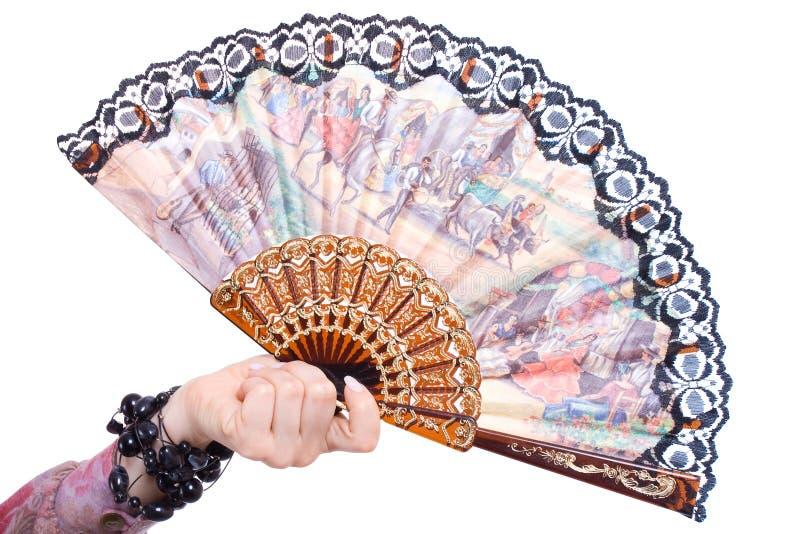 风扇在手中 免版税库存照片