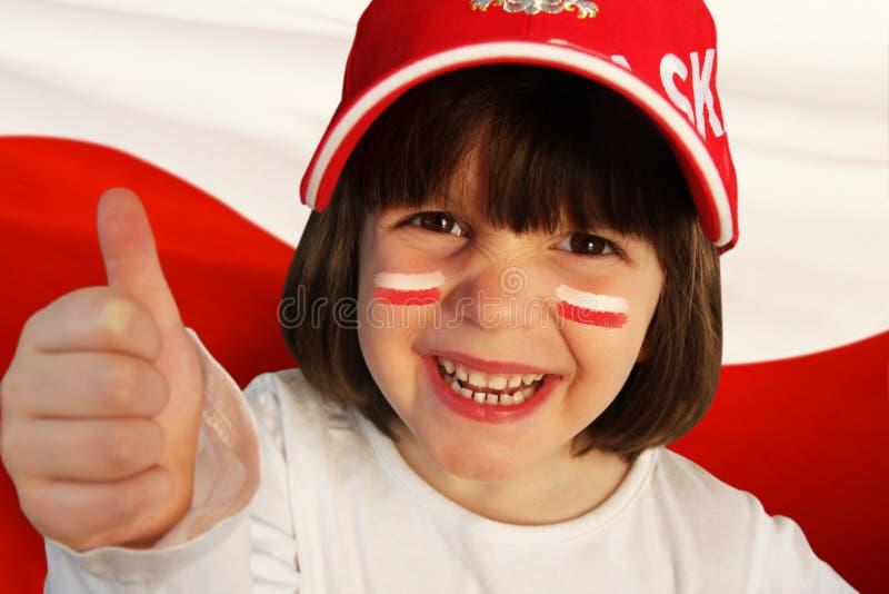 波兰女孩体育迷 免版税库存图片