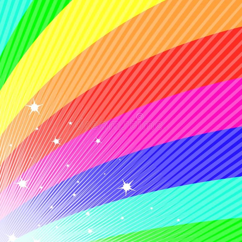 风扇彩虹 向量例证