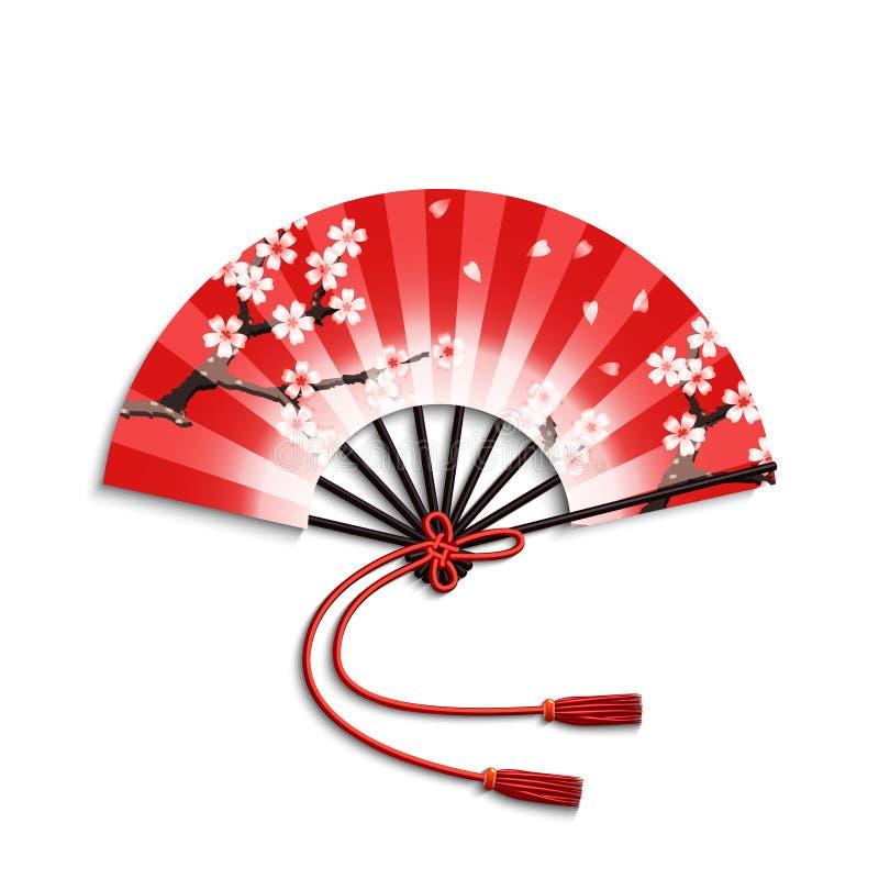 风扇折叠的日语 皇族释放例证