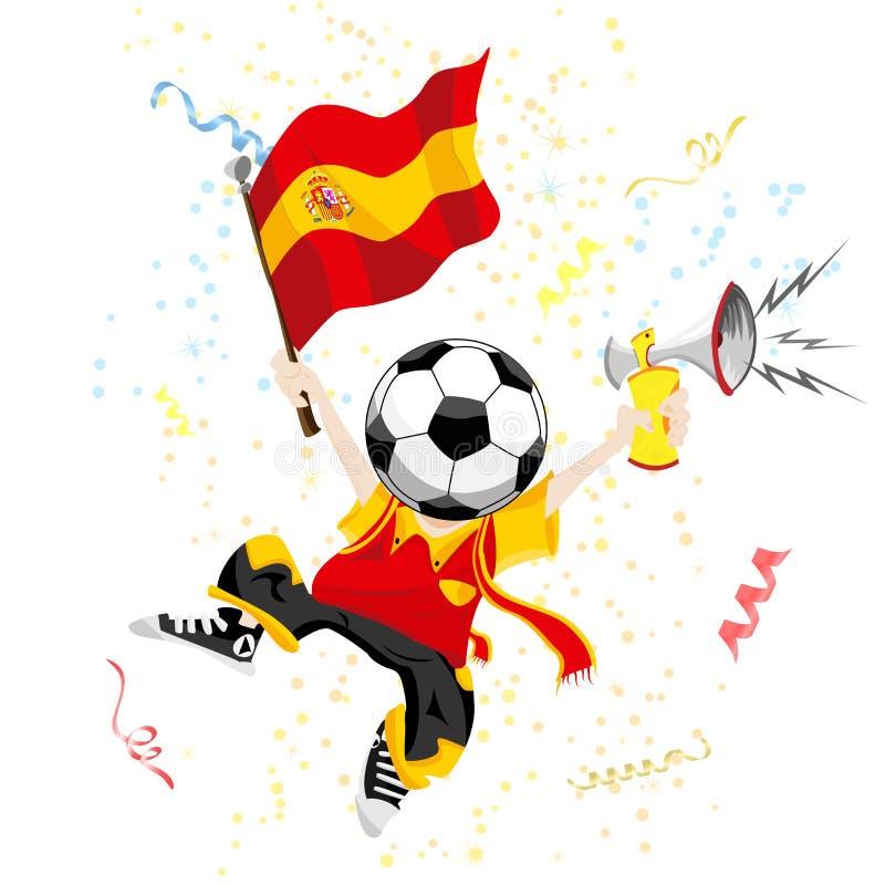 风扇足球西班牙 库存例证