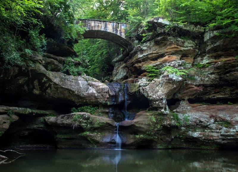风景俄亥俄国家公园瀑布风景 免版税库存照片